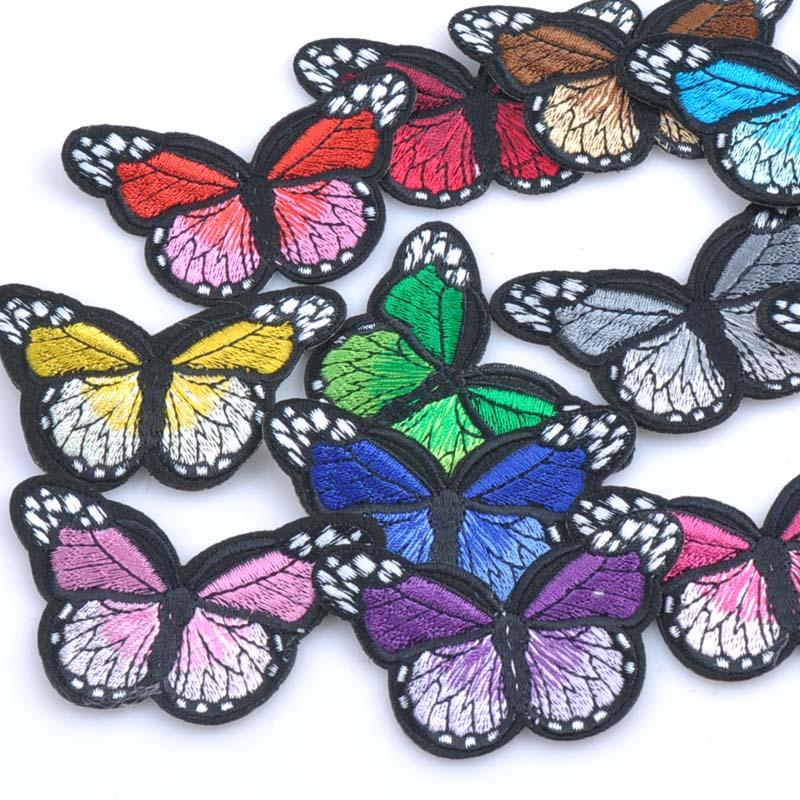 10pcs-Patches-badge-Iron-on-for-clothing-Mixed-Butterfly-decoration-repair-decals-sewing-On-Motif-Patches