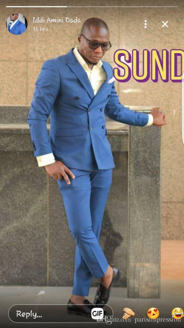 Trajes Moda Para Negocios Hombre Contraídos Compre Cruzados Azul De nTqzRWWwY