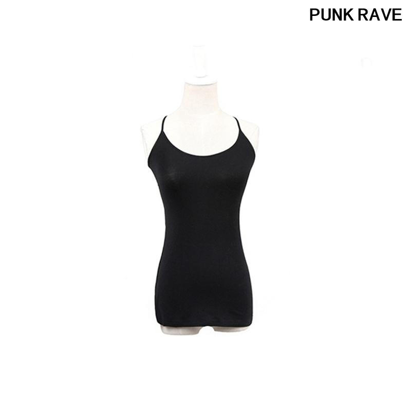 43ad0698fede2c 2019 Adjustable Strap Tank Camis Gothic Elastic Cotton Close Fitting Thin  Top Sleeveless Sexy Open Back Elegant Vest PUNK RAVE T 296 From Lookpack