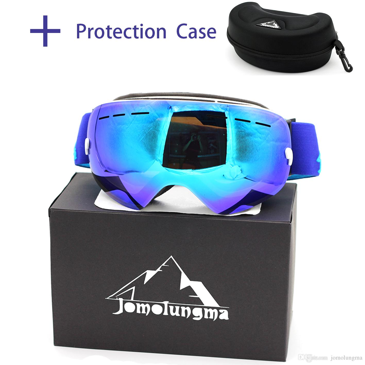 ad792956a3d 2019 Jomolungma New Ski Goggles Big Spherical Double Layers Anti Fog HD  Polarized With Protection Case Snowboard Skiing Eyewears Glasses SGC00106  From ...