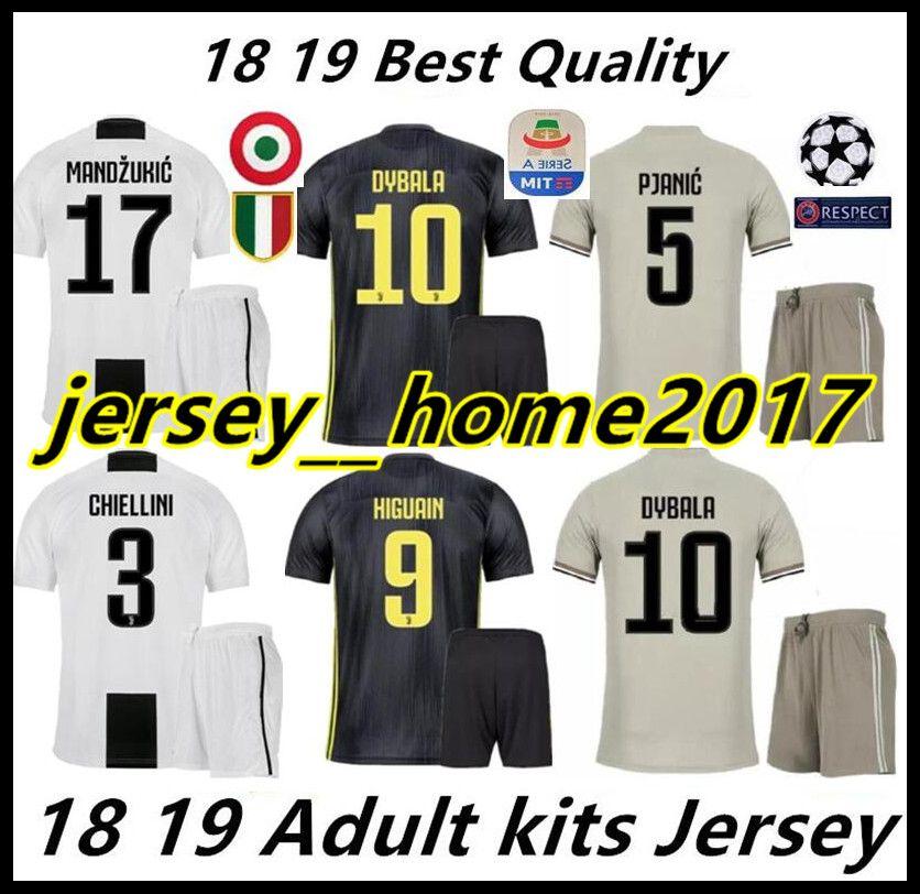 602f13fef 18 19 Juventus Soccer Jersey Kit 2018 2019 Juve 7 RONALDO 9 HIGUAIN ...