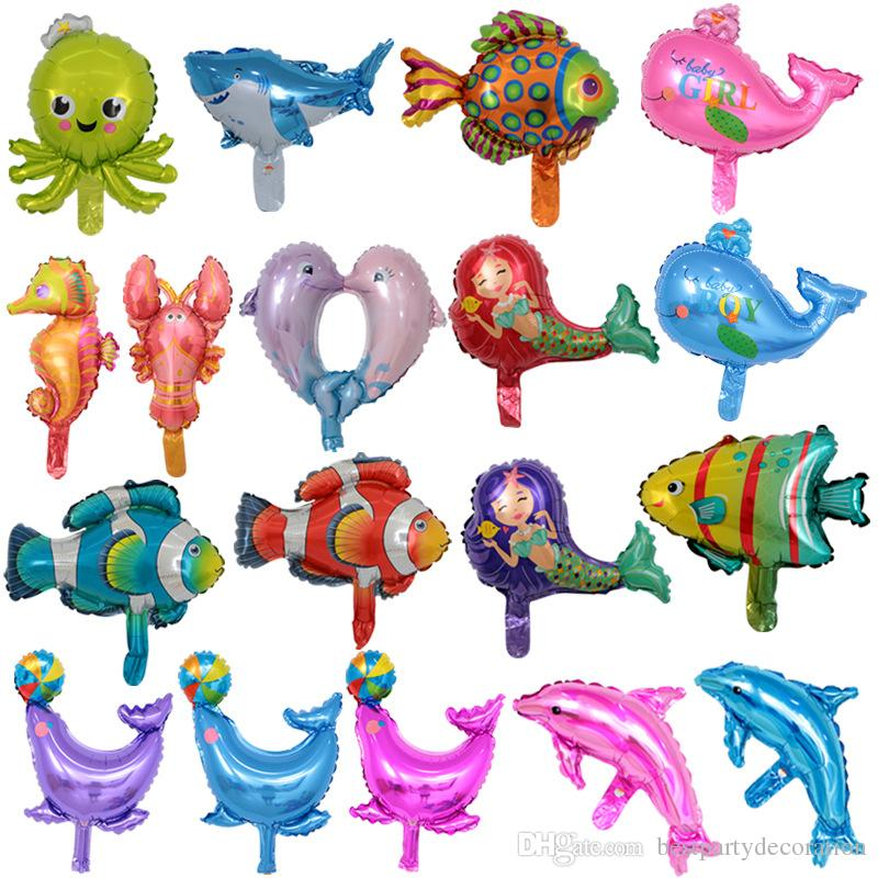 2019 Fish Foil Balloons 30 40cm Inflatable Toys Sea World Party