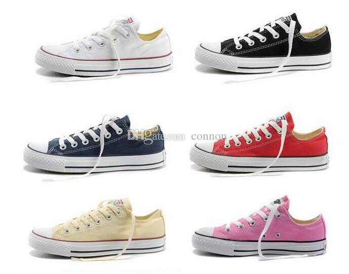 size35-46 New Unisex Low-Top & High-Top Adult Women's Men's Big Kids star Canvas Shoes 15 colors Laced Up Casual Shoes Sneaker shoes