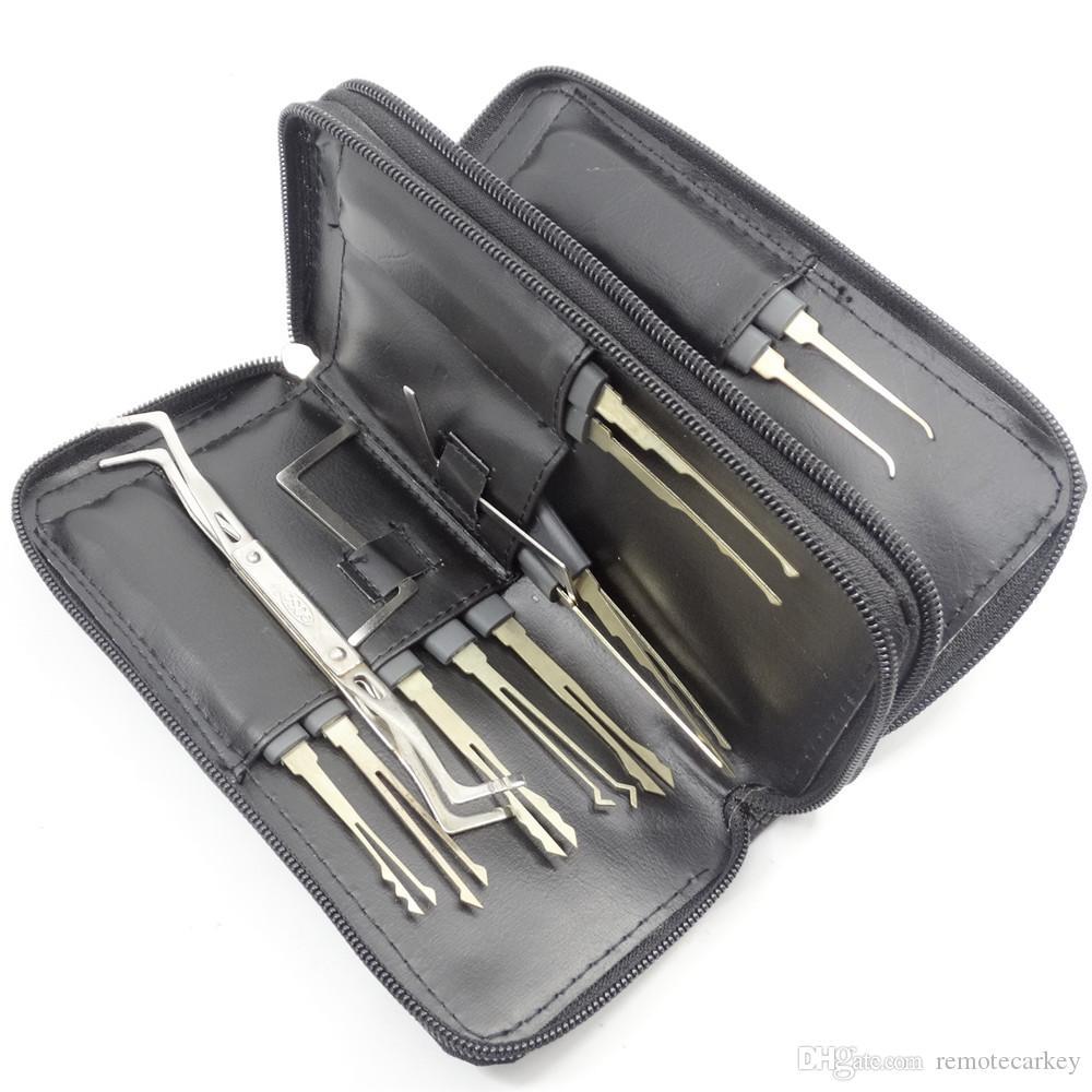 GOSO Titanize Hook Picks w / Bag Attrezzo del fabbro Goso Set di grimaldelli Lockpick Attrezzi del fabbro