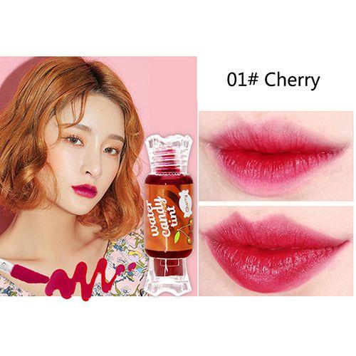 NOVO Brand Fruit Liquid Matte Lipstick Cute candy Tattoo Lip Gloss Moisturizing Long Lasting Lip Tint Lipgloss Matte 5163 EMS DHL