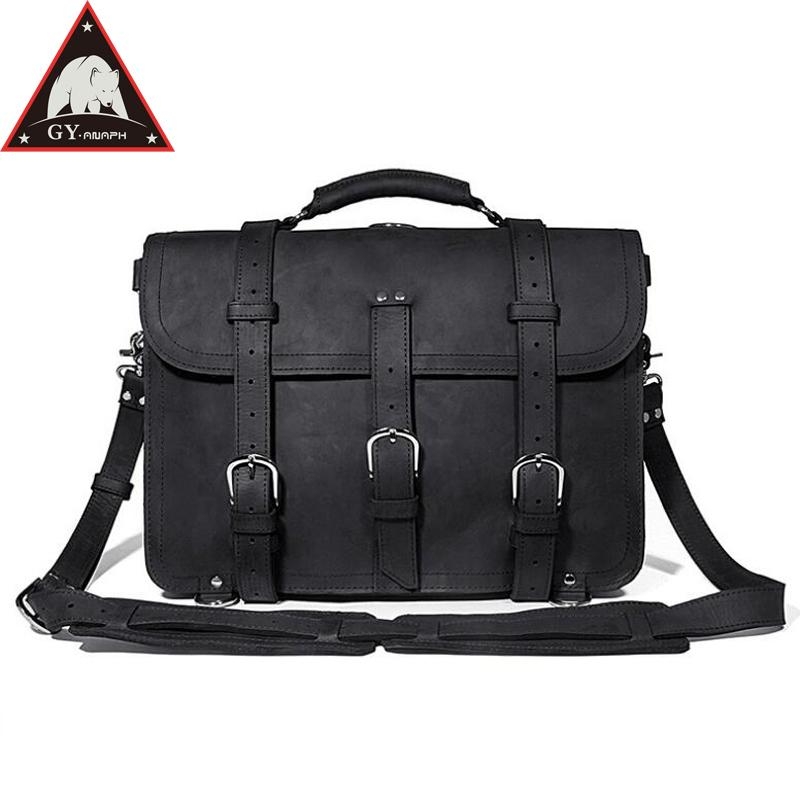 b93fc18bc5a82 Satın Al ANAPH Marka Seyahat Duffle Çanta, Kalın Deri İş Erkekler Evrak Fit  16 Laptop, Çok Fonksiyonlu Rahat Çantalar Dayanıklı Siyah, $243.05 | DHgate.