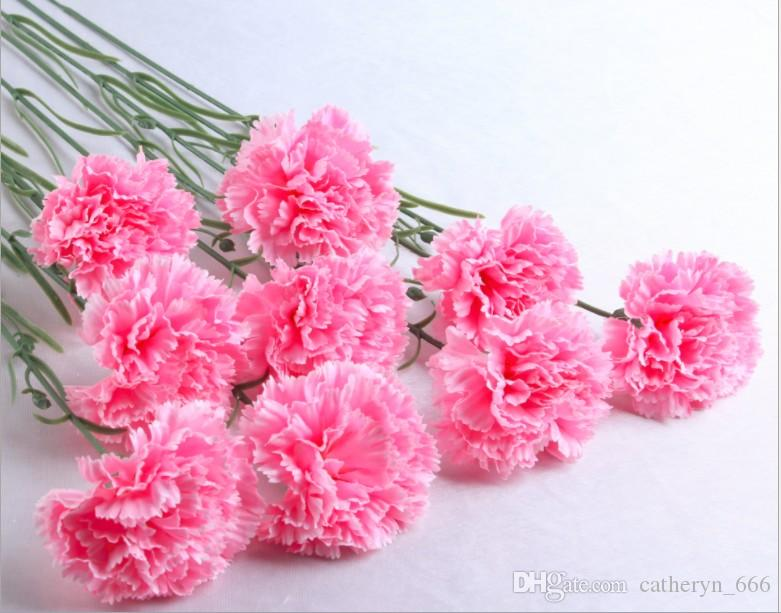 Popular carnation artificial flower cheap silk flower good gift for popular carnation artificial flower cheap silk flower good gift for mothers day indoor flower decoration camera props wedding floar deco popular carnation mightylinksfo