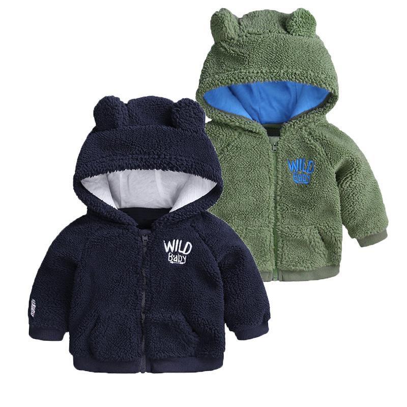 53f7b8cb65ca 2018 INS Winter Baby Girl Coat Baby Boy Clothing Fleece Jacket Cute ...