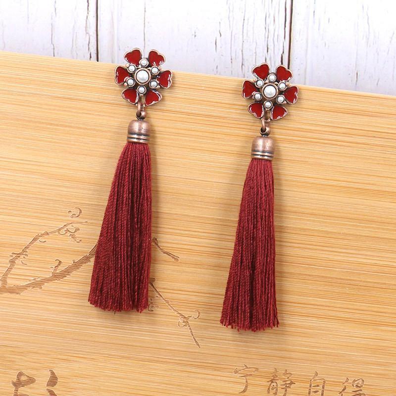 1832fa7a5 2019 2018 New Brand Tassel Earring Women Fashion Jewelry Bohemian Trendy  Long Drop Dangle Long Earrings Ethnic Vintage Earrings From Buete, $33.74 |  DHgate.