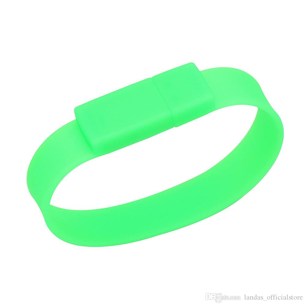 Usb-flash Colorful Silicone Bracelet Wrist Band 4GB 8GB 16GB 32GB 64GB 128GB USB Flash Drive Pen Drive Stick U Disk Pendrives