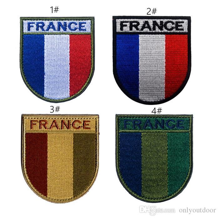 0b66e1bd0d62 18VP-51 3D ejército francés F2 / FELIN bandera escudo brazalete parche  táctico parche mágico parches parche del ejército para la chaqueta / gorra