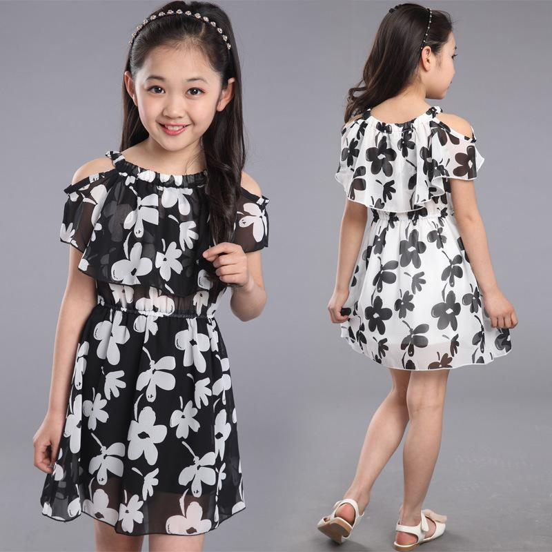 2019 Teenage Girl Dresses Summer 2018 Children S Clothing Kids Flower Dress  Chiffon Princess Dresses For Age 7 8 9 10 11 12 Years Y1891203 From  Shenping02 5b5ac319a3a4