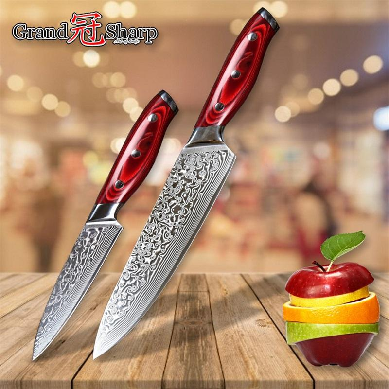 damascus knife set damascus japanese stainless steel vg10 chef rh dhgate com