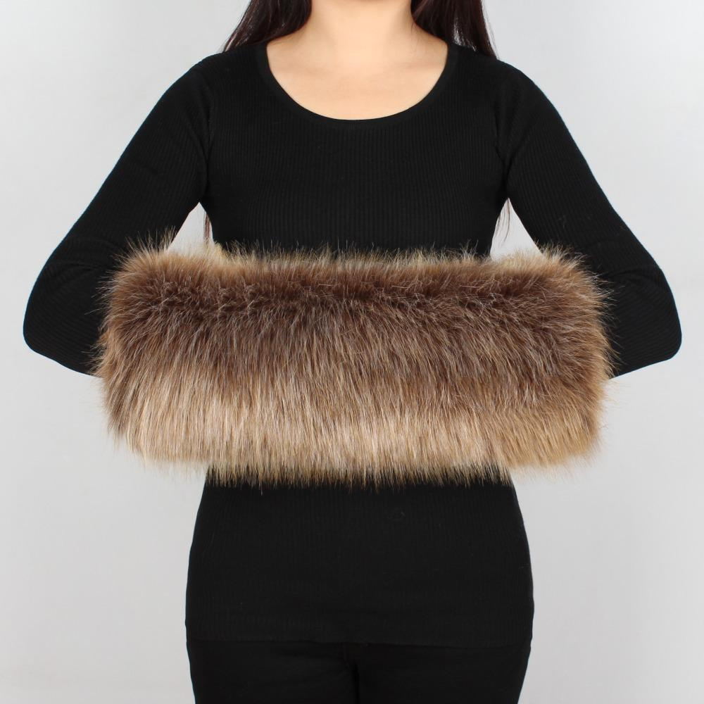 2bbd5b96bca5 2019 Fashion Lady Faux Fur Winter Warm Multicolor Fox Fur Fleece Lining  Thicken Hand Wrist Hand Warmer Large Size Gloves 6Q2397 From Ancient88