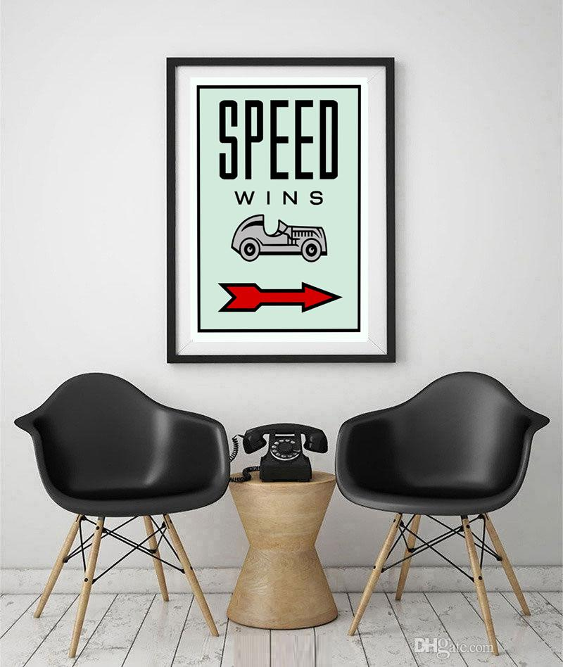 2018 Unframed/Alec Monopoly Speed Wins,Hd Canvas Print Home Decor ...