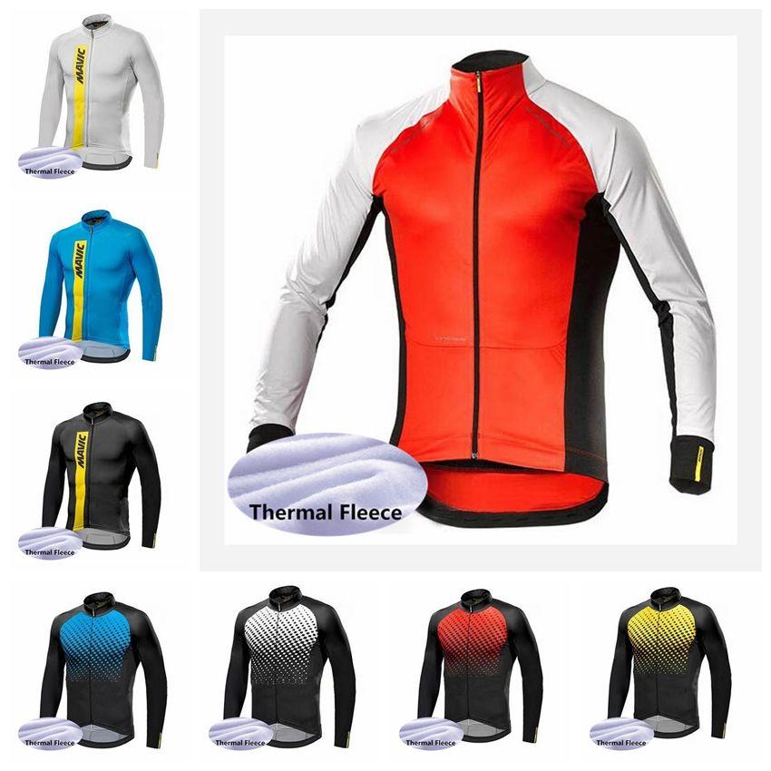 2018 MAVIC Team Cycling Jersey Men Pro Team Winter Thermal Fleece ... dd97eeb20