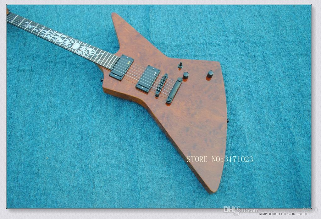 High Quality brown K Style Electric Guitar Wooden OEM China Guitars Top Musical instruments