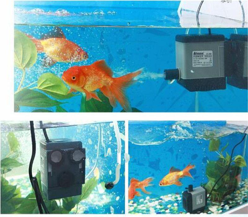 Atman AT-302 6.5W 450L / H Akvarium Fisk Tank Vattenpump PoweHeader Dämpbart Pump Liquid Filter Olika utloppskontakter