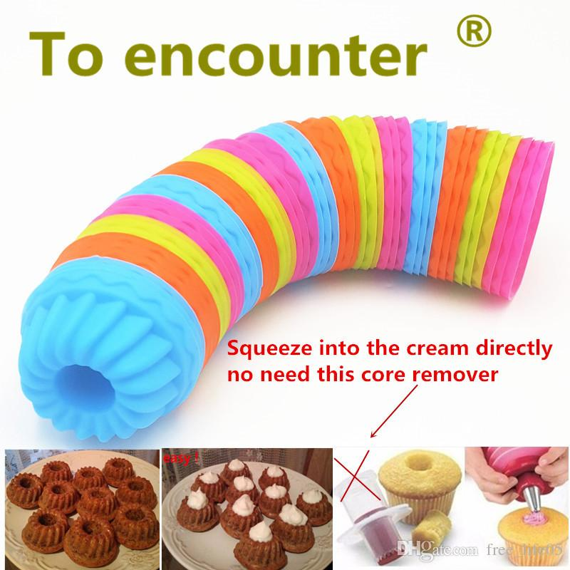 ON SALE 12PCS/Lot Pumpkin Round Shape 3D Cake Cup Silicone Muffin Cupcake Mold Baking Tools Cake Decorating Tools For Bakeware