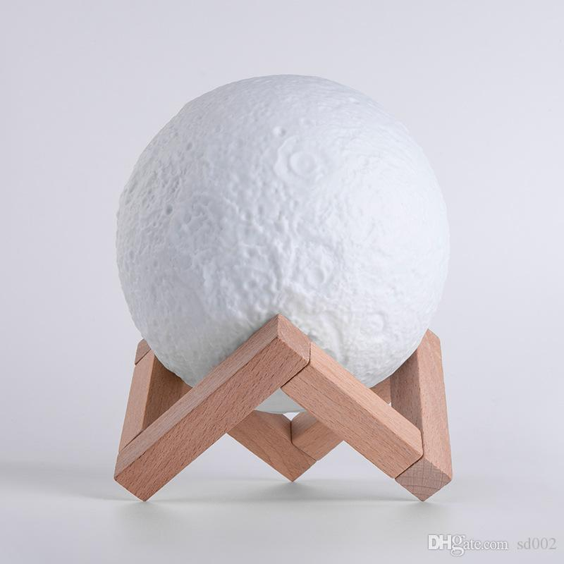 3D Луна лампа сенсорный контроль USB зарядка Night Light Home Decor творческий подарок 8 см 20 см высокое качество 110ak8 C R