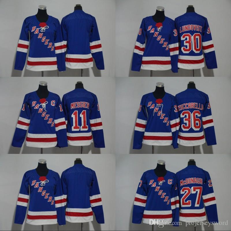 2019 Lady And Youth 2017 18 New York Rangers Jersey 11 Mark Messier 27 Ryan  McDonagh 30 Henrik Lundqvist 36 Mats Zuccarello Hockey Jerseys From ... c5e0420b2