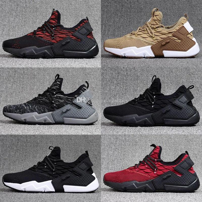 537224d3f83 Compre Nueva Llegada 2018 Air Huarache 6 Drift Running Shoes Hombres  Mujeres Negro Rojo De Alta Calidad Triple Huaraches Deporte Zapatillas  Tamaño 36 46 A ...