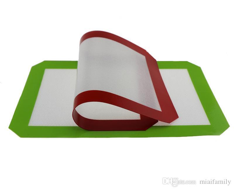Tapis anti-adhésifs en silicone pour cire 30 cm x 21 cm 11,81 x 8,27 pouces Tapis de cuisson en silicone Tampon à l'huile de cuisson au four Herbe sèche DHL