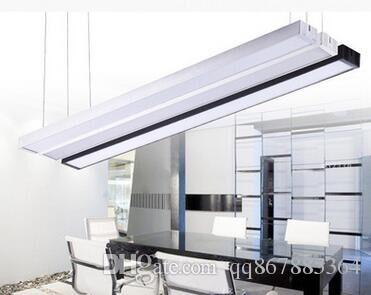 Simple Led Office Lighting Chandelier Pendant Lamp Strip Engineering  Conference Room Office Study Led Office Chandelier Hanging Lights For  Kitchen Designer ...