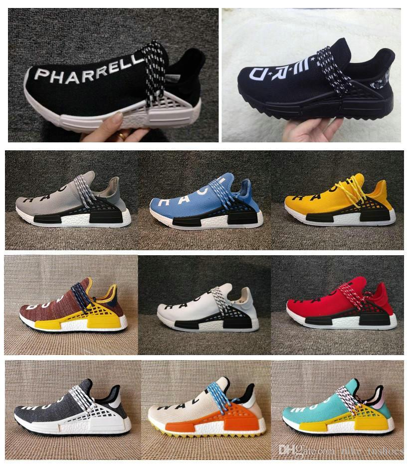 84729e6b3c5 Acquista 2018 HOT SALES NMD HUMAN RACE Trail BOOst Mens Shorts Nmds  Pharrell Williams Hu Ultra Potenzia Le Sneakers Sportive Gialle Nere  Bianche Da Donna A ...