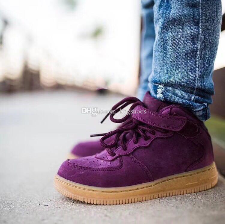 Acquista Nike Air Force 1 Af1 Scarpette Da Ginnastica Bambini Classic Af  Sneakers Da Bambino Air One Low Cut Purple One 1 Dunk Shoes Sport  Skateboarding ... db0ce91fb1c