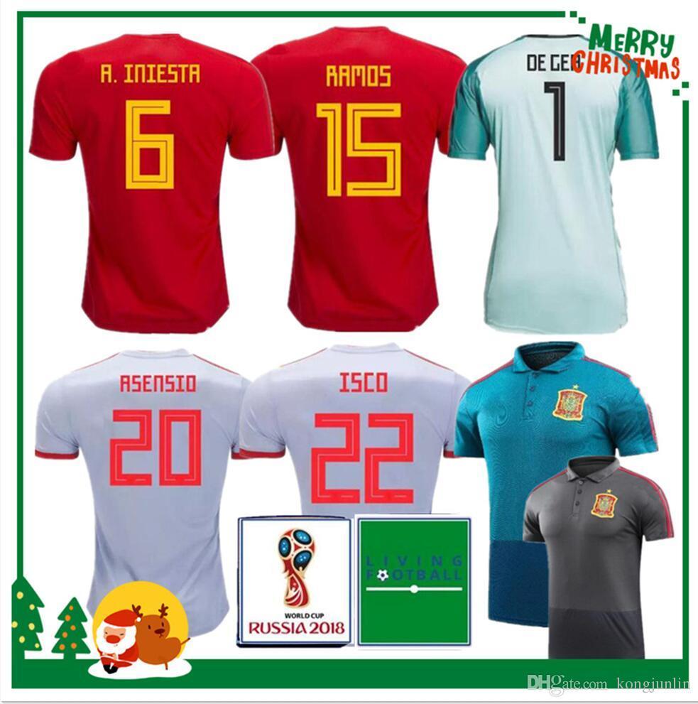 d6910977a 2018 Spain Jersey Home Away Soccer Jersey Spain Home Soccer Shirt ...