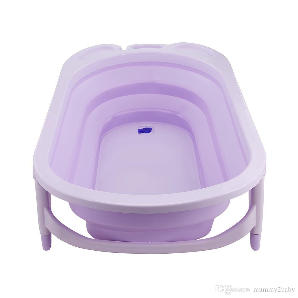 2018 Portable Folding Children Baby Bathtub Bath Bucket Swim Tubs ...