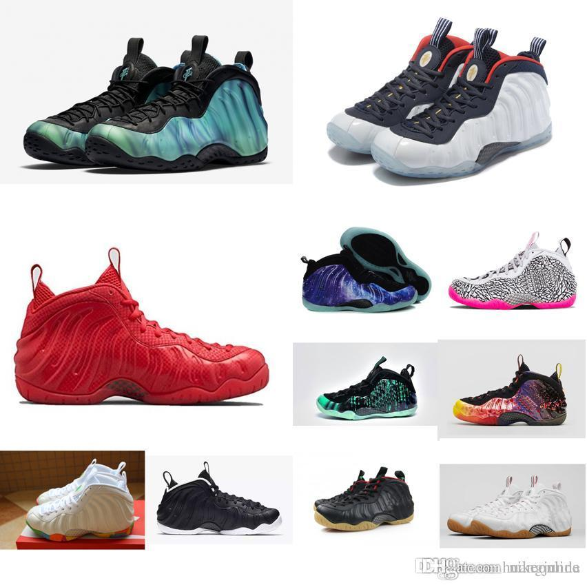 the best attitude 750f2 27581 2019 Cheap Women Penny Hardaway Posite Basketball Shoes Galaxy White Black  Boys Girls Youth Kids Air Flights Foams One Sneakers Boots For Sale From ...