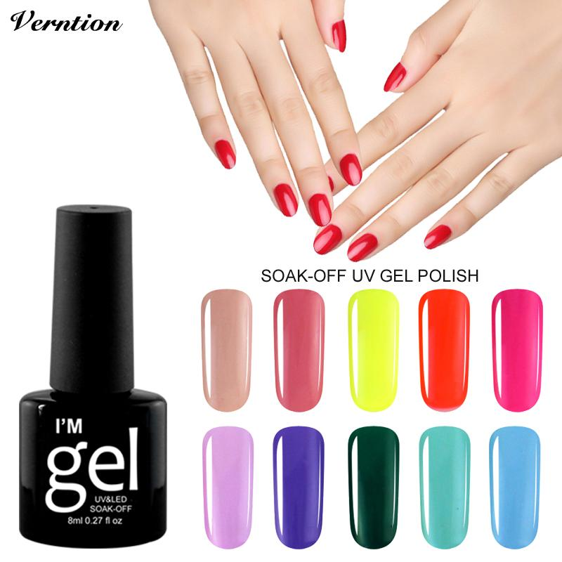Verntion Gel Nail Lacquers For Sale Gel Nail Polish Led Uv Semi ...