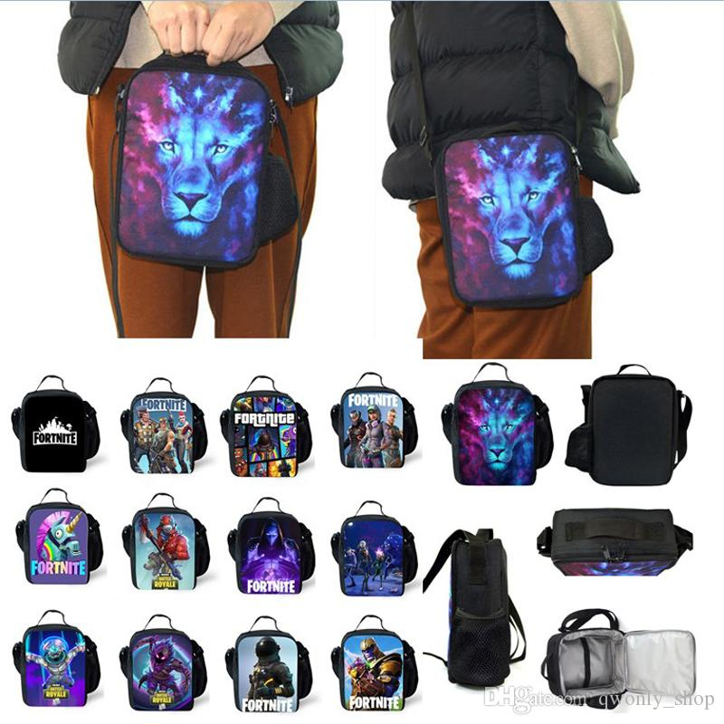 2019 Kids Lunch Box Bag The Fortress Night Teenager Backpack Students  Schoolbag Luminous Unisex Game Storage Bag From Qwonly shop 8059c9e97a905