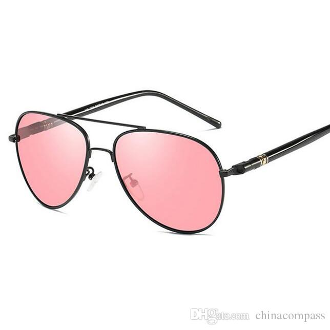 Compre Frete Grátis Clássico Moda Praia Piloto Polarizada Óculos De Sol  Lente Vermelha Óculos De Visão Nocturna Óculos De Condução Pesca Para  Homens A209 De ... 9a92d22c63