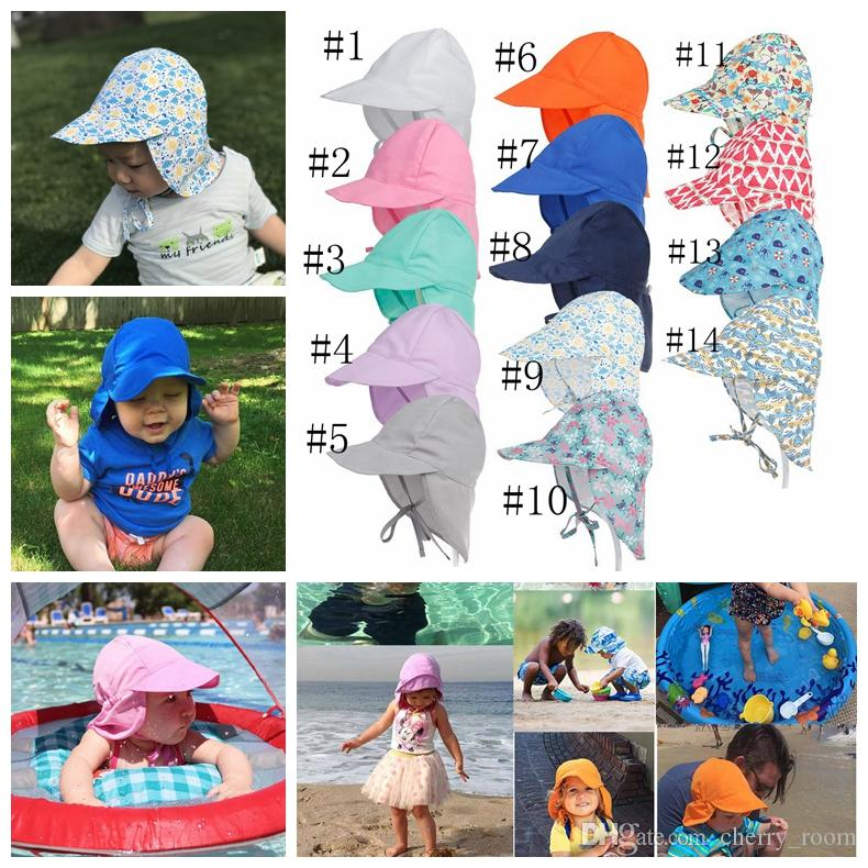 1d751d0d 2019 New Summer Newborn Sun Cap Unisex Baby Kids Bucket Hat UV Protection  Hat Outdoor Soft Beach Hat Neck Ear Cover Flap Cap A9922 From Cherry_room,  ...