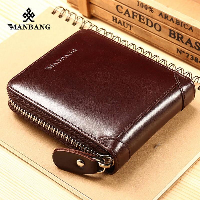ManBang Men s Wallet Genuine Leather Men