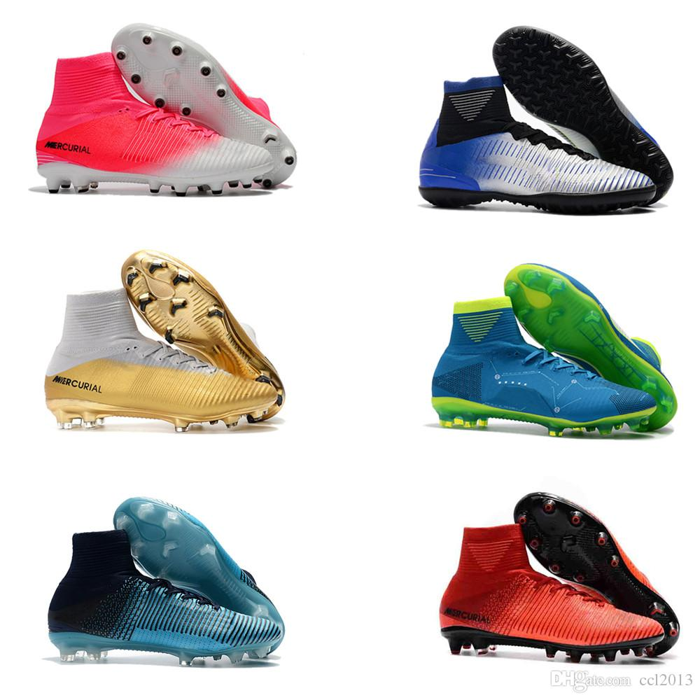 2018 Top Quality Womens And Mens Mercurial Superfly FG TF Football ... 8d642de54