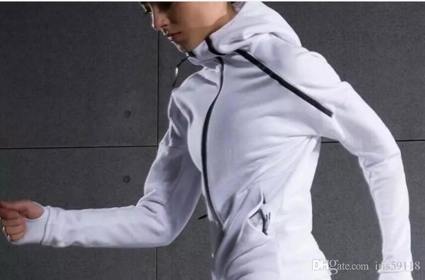ec3fc9206f9d3 Satın Al ZNE Orijinalleri Logosu Kazak Erkekler Kadınlar Katı Renk AD  Hoodies Rahat Yan Fermuar Severler Spor Takım Elbise Ince Spor Sware Siyah  Hoodyfree . ...