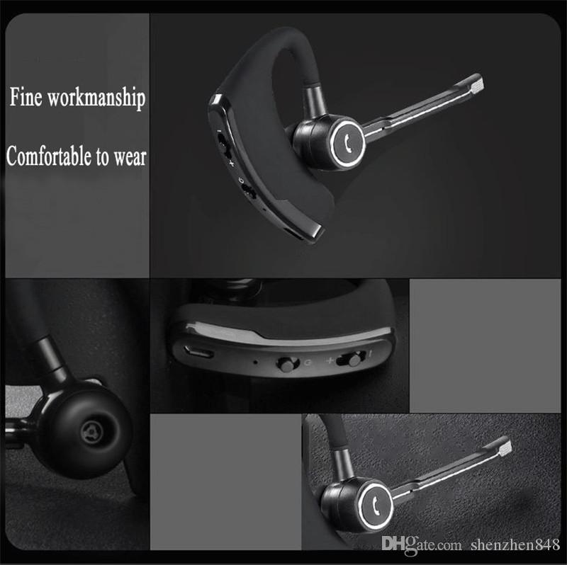 848D high quality V8 V8S Wireless Bluetooth Headphones Business Stereo Wireless Earphones Earbuds Headset With Mic with package