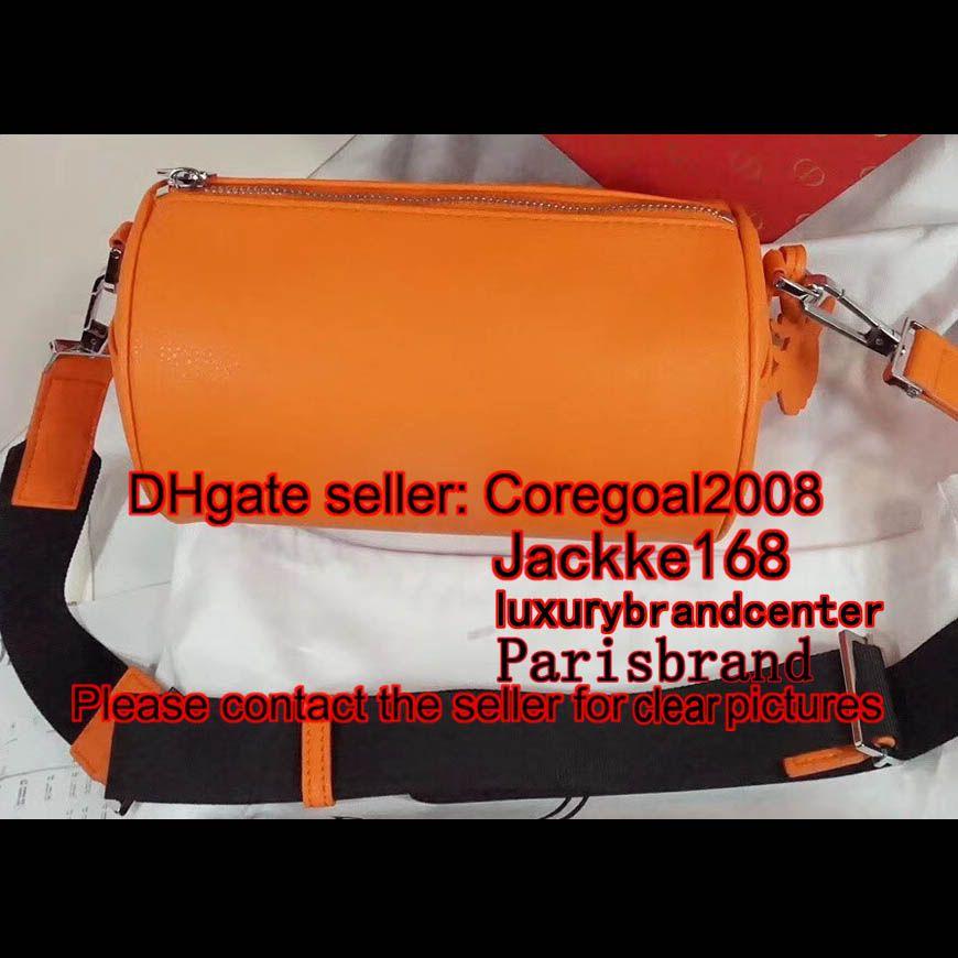 4df3b5d7236d 2019 2018 New ROLLER POUCH GRAINED CALFSKIN D10R Genuine Real Leather Small  Shoulder BAG Cross Body Satchel Women MEN Handbag Purse Atelier 21cm From  ...