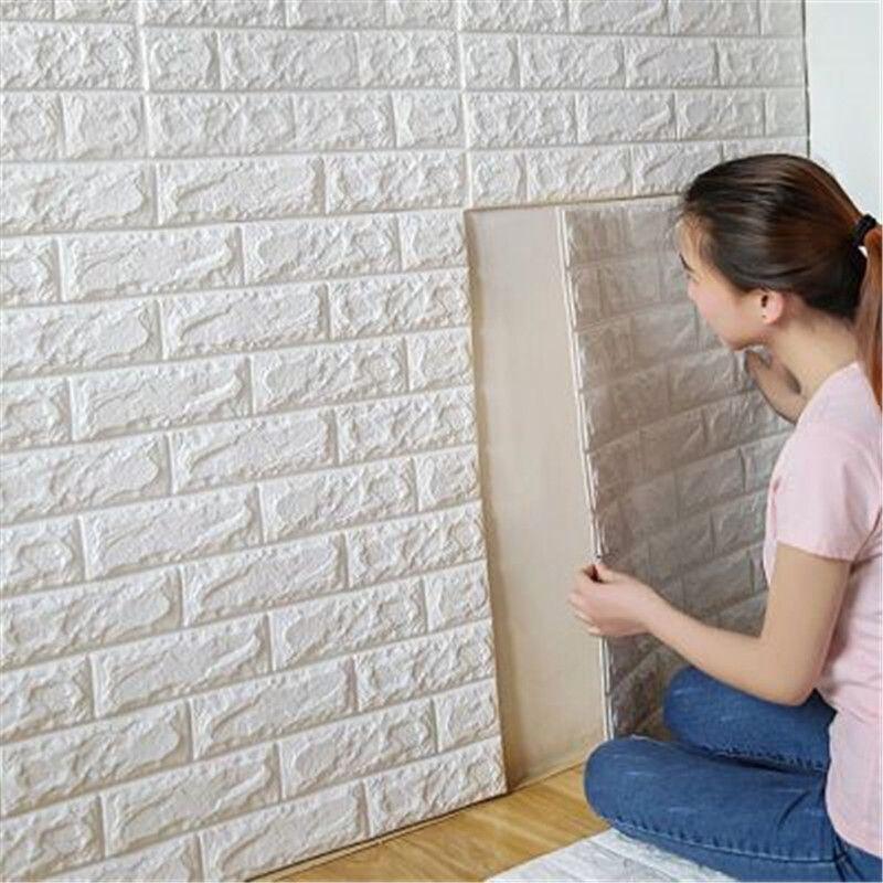 70x77cm pe foam 3d wall stickers safty home decor wallpaper diy wall
