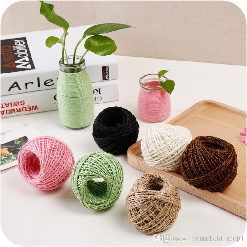 Fashion multi-color burlap Rope Natural Jute Twine Burlap String Hemp Rope  christmas Gift Wrapping Cords Thread