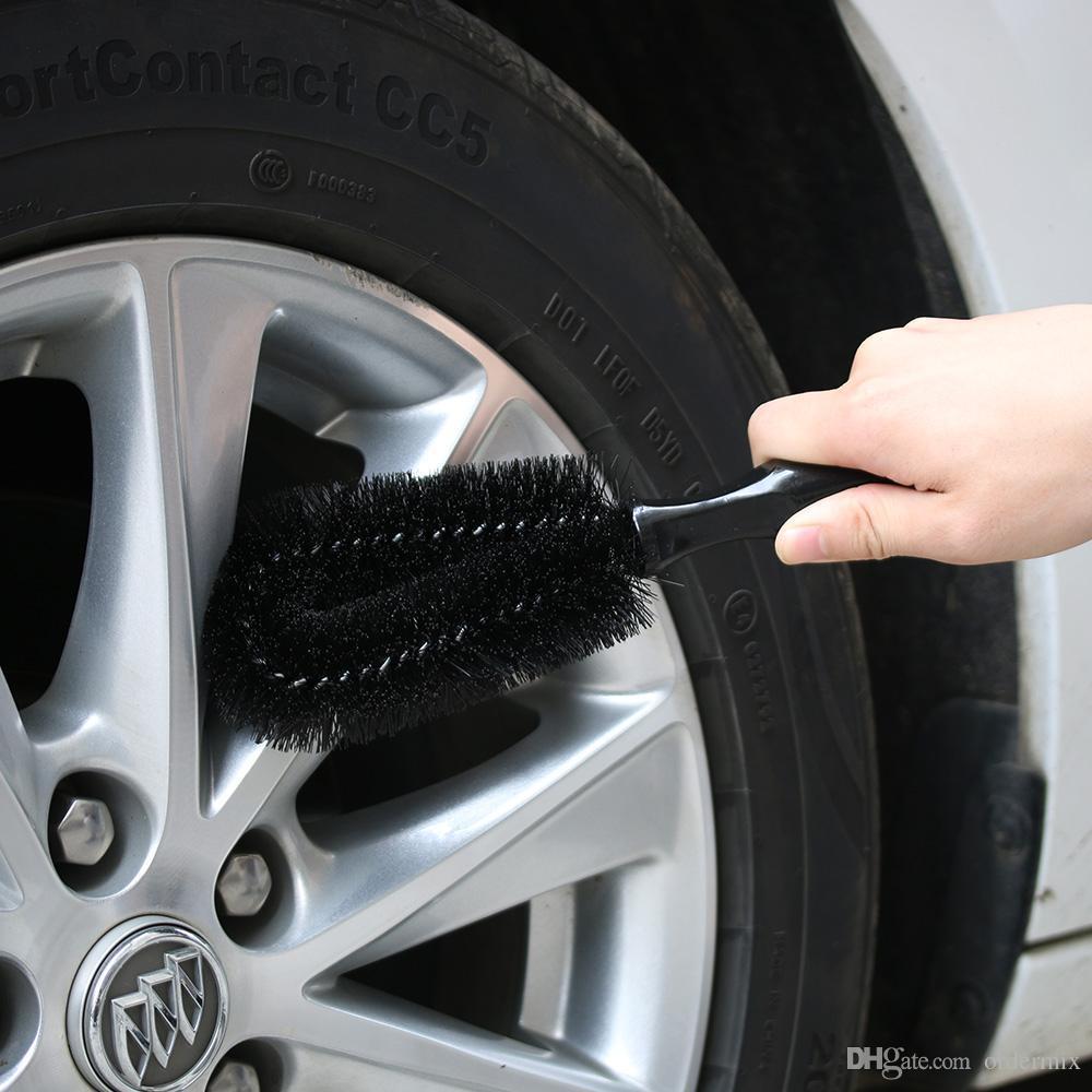 1 Pz Nero Car Wheel Tyre Rim Spazzola Multifunzionale Car Truck Moto Bike Wheel Rim Spazzola Scrub Brush Strumento di pulizia