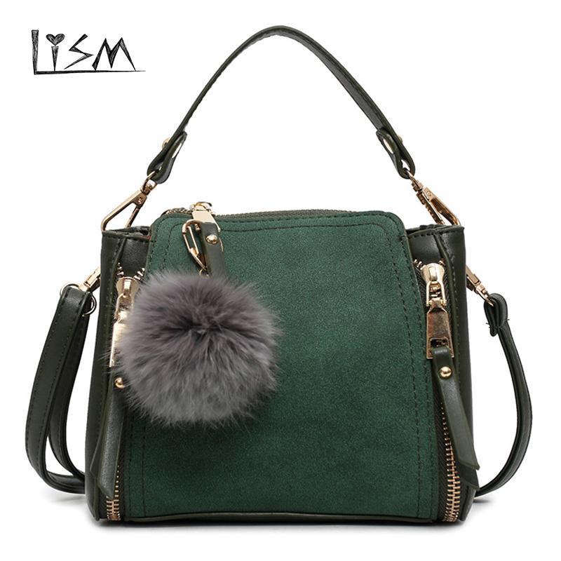 24a4bbc204af Luxury Leather Ladies Handbag Female Zipper Wallet Fashion New 2018 Ladies  Messenger Bag Leather Suede Bag Main Luxury Bags Handbags Wholesale From ...