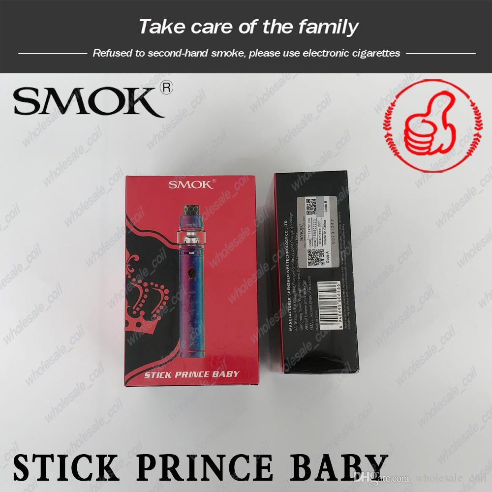 Authentic SMOK Stick Baby Prince Kit 2000mAh Battery 4.5ml TFV12 Prince Tank Atomizer Vape Pen Kits 100%Genuine Smoktech