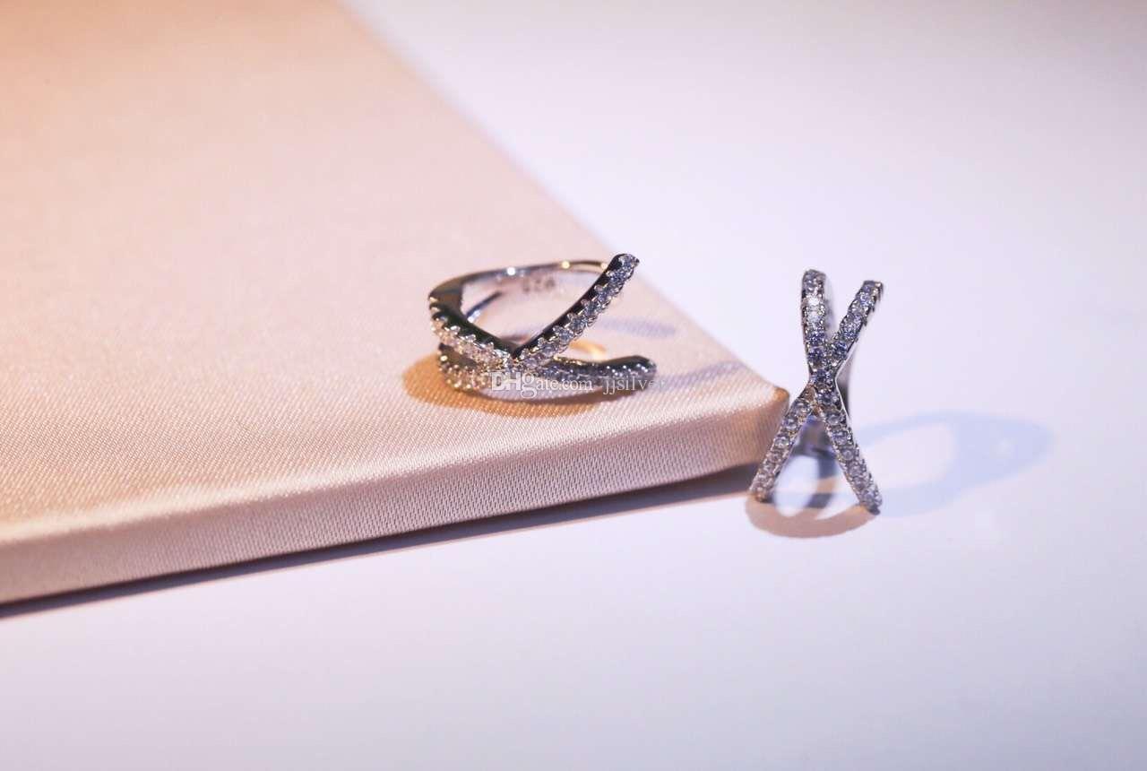 New Fashion Brincos simple women Ear Cuff Cartilage Jacket s925 silver Minimalist Cross x Clip Earring Women delicate LOVE Earr