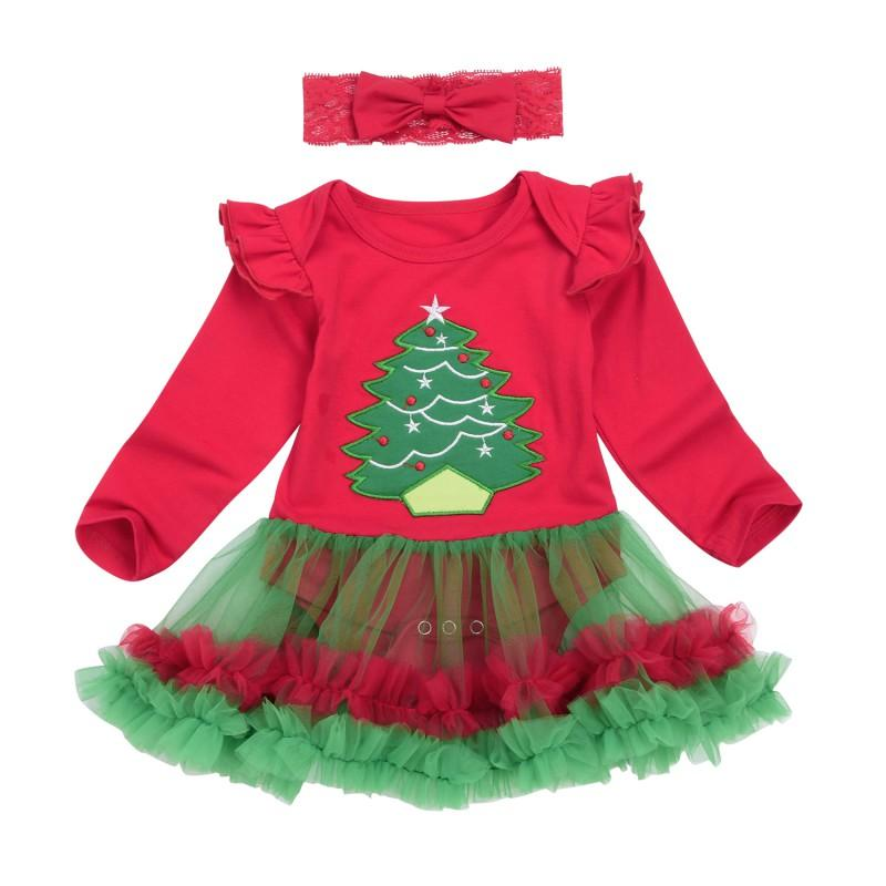 8c54516fb3e2d 2017 New Christmas Baby Costumes Cloth Infant Toddler Baby Girls My First  Christmas Outfits Newborn Romper Set