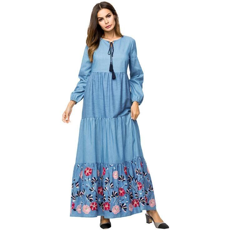 294c171facf3 Women Fashion Islamic Clothing Modest Wear Abaya Dress Jillbab Kebaya  Muslim Ladies Long Sleeve Maxi Dress Large Size Dress Pink Cocktail Dresses  Dress ...